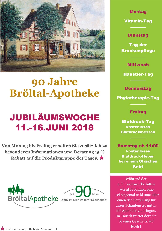 90 Jahre Bröltal Apotheke