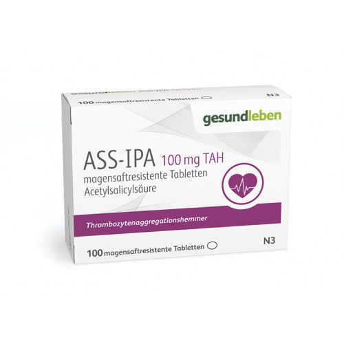 ASS-IPA 100 mg TAH, 100 magensaftresistente Tabletten